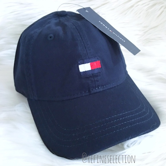 1e47ff3f5cc Tommy Hilfiger Flag Navy Blue Strapback Dad Hat